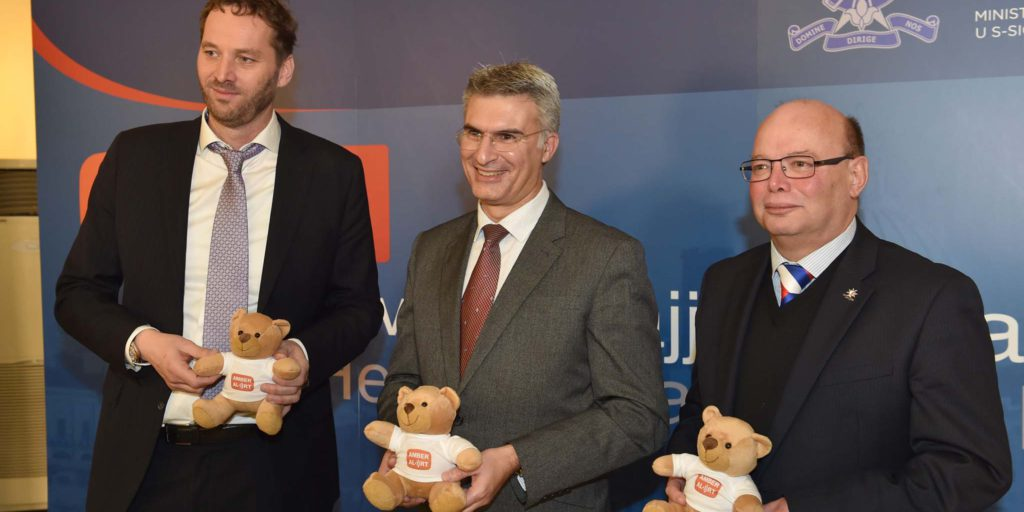 Minister For Home Affairs And National Security Carmelo Abela Launches The Amber Alert System In Malta, Where Malta Will Be Joining The European Child Rescue Alert PlatformMalta Police Headquarters